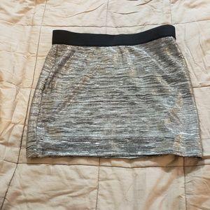 Forever 21 Silver Mini Skirt